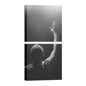 Mod Man Worshipping Pair 24 x 24 Canvas Prints