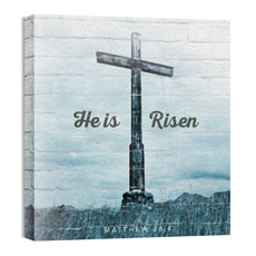 Mod He Is Risen Cross Wall Art