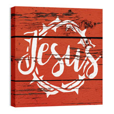 Mod Jesus Red Wall Art