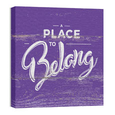 Mod Place to Belong Wall Art