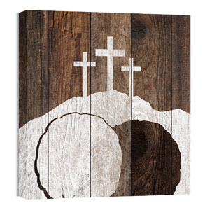 Mod Three Crosses Tomb 24 x 24 Canvas Prints