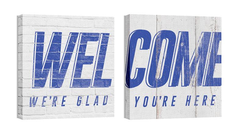 Mod Welcome Pair 2 Canvas Print - Church Wall Art - Outreach Marketing