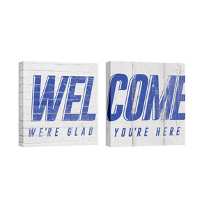 Mod Welcome Pair 2 24 x 24 Canvas Prints