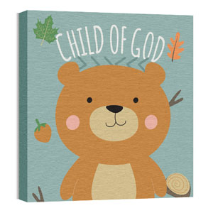 Woodland Friends Bear 24 x 24 Canvas Prints