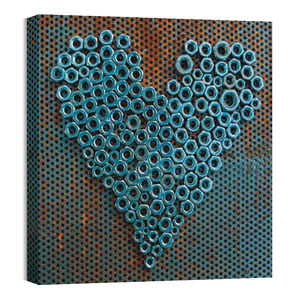 Mod Heart 1 24 x 24 Canvas Prints