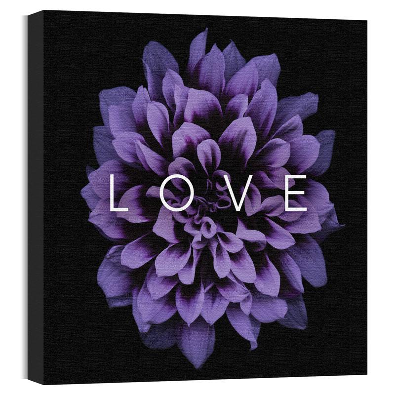 Mod Love Purple Flower Canvas Print Church Wall Art Outreach Marketing