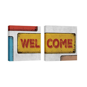 Mod Welcome Pair 3 Wall Art