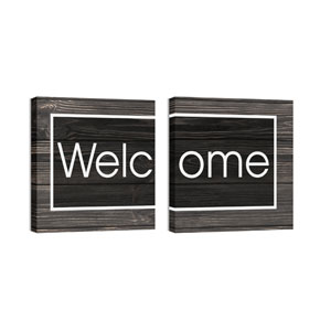 Mod Welcome Pair 4 Wall Art