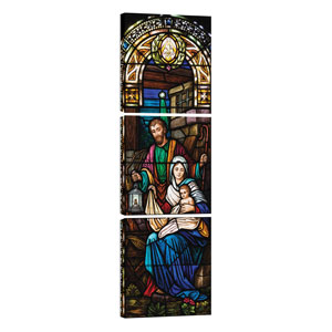 Christmas Stained Glass 24 x 24 Canvas Prints