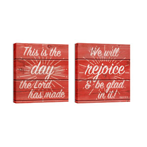 Mod Red Rejoice Pair Wall Art
