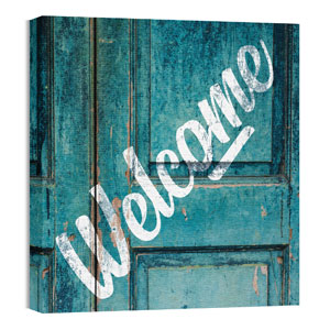 Mod Welcome Door 24 x 24 Canvas Prints