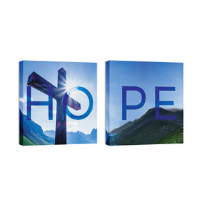 Hope Cross Pair 24 x 24 Canvas Prints