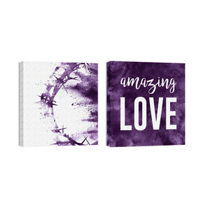 Purple Powder Crown Amazing Love Wall Art