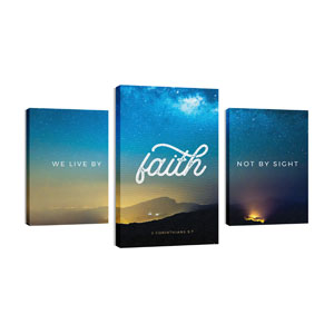 Live By Faith 30in x 50in Canvas Prints