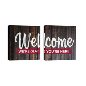 Mod Welcome Pair 7 24 x 24 Canvas Prints