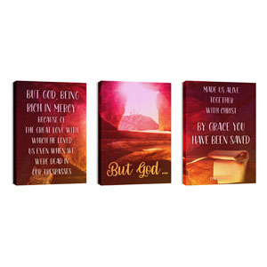 But God Triptych 24in x 36in Canvas Prints