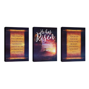Dramatic Tomb Easter Triptych 24in x 36in Canvas Prints