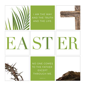 Easter Week Icons Set 24 x 24 Canvas Prints