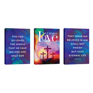 No Greater Love Triptych 24in x 36in Canvas Prints