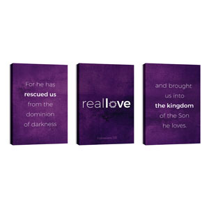 Real Love Crown Triptych 24in x 36in Canvas Prints