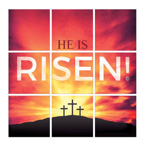 Mod He Is Risen Crosses Set 24 x 24 Canvas Prints