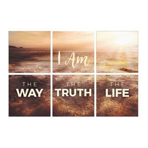 Mod I Am Way Truth Life 24 x 24 Canvas Prints