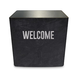 Slate Welcome Counter Sleeve Large Rectangle
