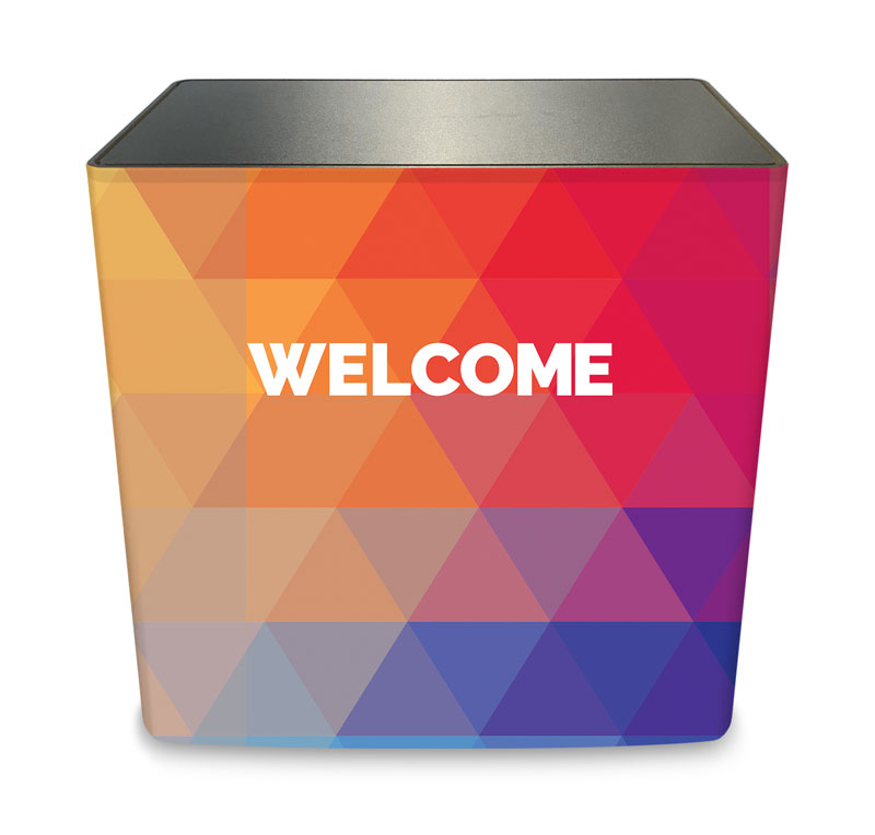 Counter Sleeves, Welcome, Geometric Bold Welcome, Large Rectangle