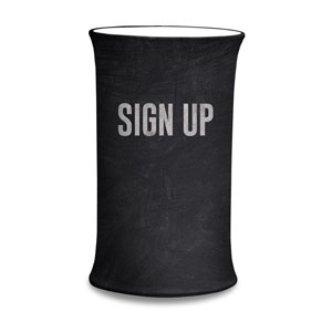 Slate Sign Up Counter Sleeves Small Oval