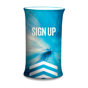 Chevron Blue Sign Up Counter Sleeves Small Oval