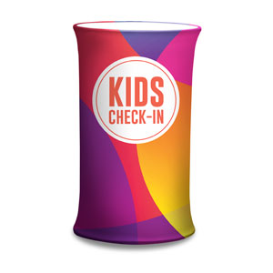 Curved Colors Kids Check-In Counter Sleeves Small Oval