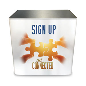 Connected Sign Up Counter Sleeve Large Rectangle