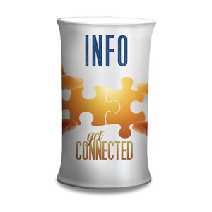 Connected Info Counter Sleeves Small Oval