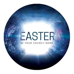 Easter Tomb Circle InviteCards