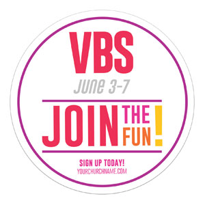 Curved Colors VBS Join the Fun Circle InviteCards