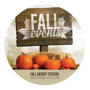 Fall Events Pumpkins Circle InviteCards