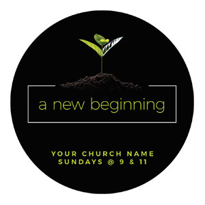 New Beginning Plant Circle InviteCards