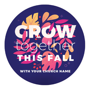 Grow Together Fall Circle InviteCards