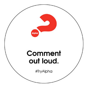 Alpha Comment Out Loud Circle InviteCards