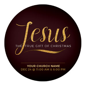 Jesus True Gift Circle InviteCards