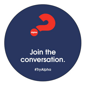 Alpha Join The Conversation Navy Circle InviteCards