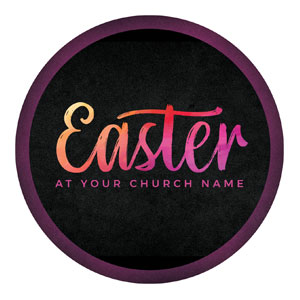 Easter Color Tomb Circle InviteCards