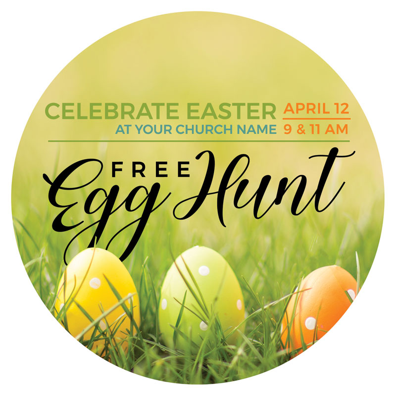 InviteCards, Easter, Free Easter Egg Hunt, 4 Circle