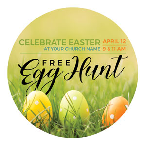 Free Easter Egg Hunt Circle InviteCards