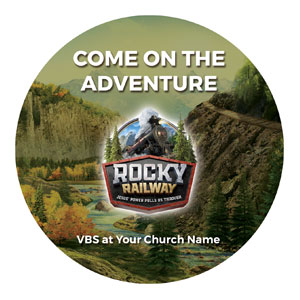 Rocky Railway Circle InviteCards