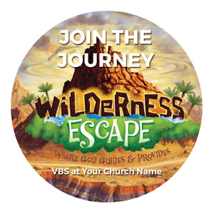 Wilderness Escape Circle InviteCards