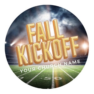 Fall Kickoff Stadium Circle InviteCards