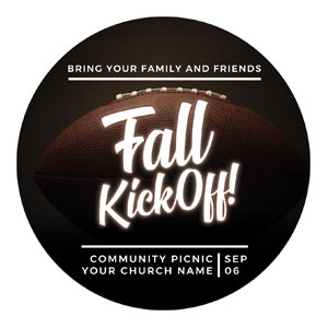 Kickoff This Fall Circle InviteCards