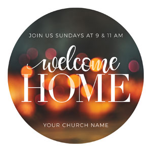 Welcome Home Lights Circle InviteCards