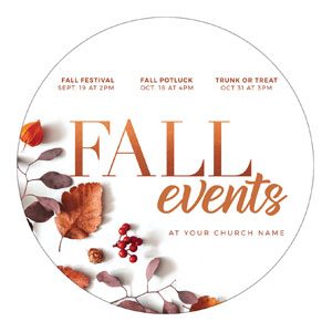 Fall Events Nature Circle InviteCards